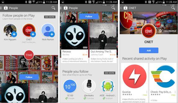 Personas, la nueva sección de Google Play que permite ver la actividad de nuestros amigos
