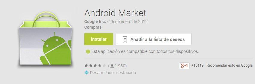 Instalar Android Market